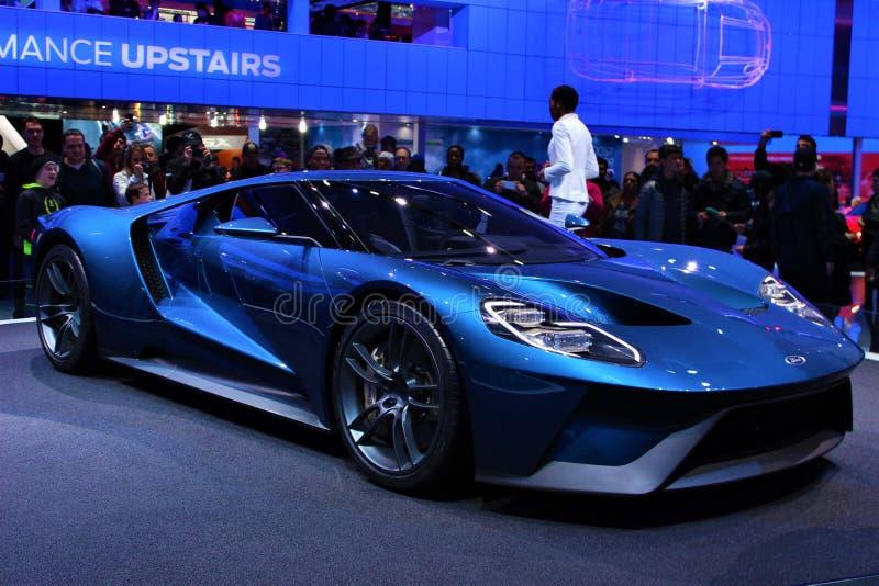 2015 Ford GT au salon de l'Auto de Detroit photo libre de droits