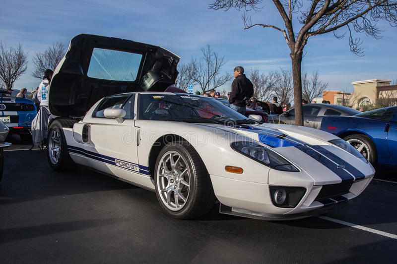 Ford GT. Blackhawk Cars and Coffee Car Show in Danville Ca all Photos taken by Luigi Dionisio Feb 1 2015 stock image