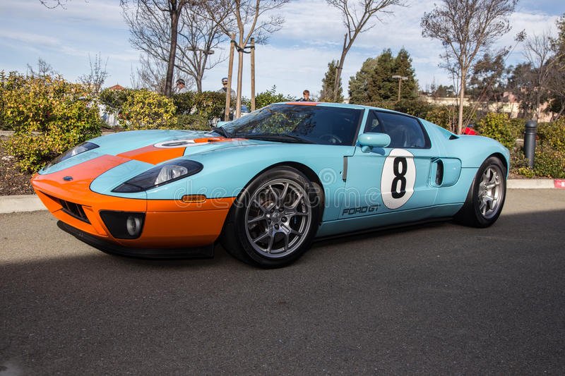 Ford GT. Blackhawk Cars and Coffee Car Show in Danville Ca all Photos taken by Luigi Dionisio Feb 1 2015 royalty free stock photos
