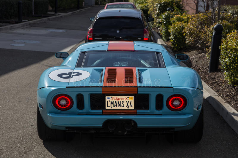 Ford GT. Blackhawk Cars and Coffee Car Show in Danville Ca all Photos taken by Luigi Dionisio Feb 1 2015 royalty free stock images