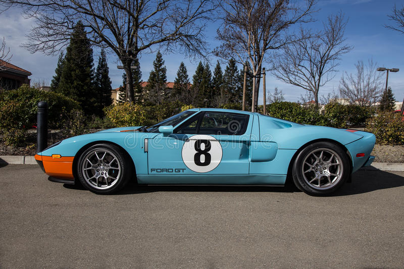 Ford GT. Blackhawk Cars and Coffee Car Show in Danville Ca all Photos taken by Luigi Dionisio Feb 1 2015 stock photography