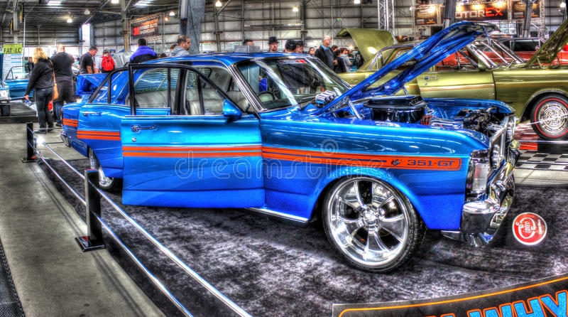 Ford 351 gt on display royalty free stock photo