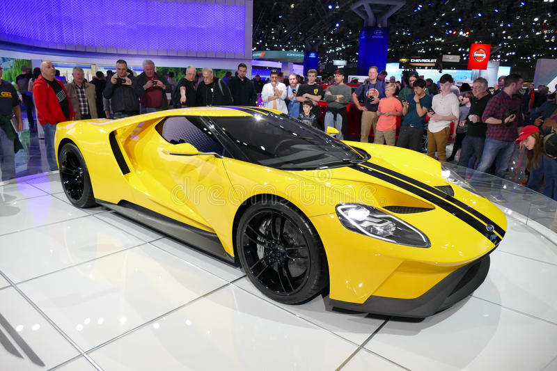 Ford GT, Ford's supercar at New York International Auto Show.JPG royalty free stock photos