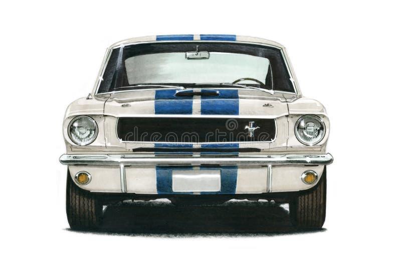 Ford GT350 Shelby MustangCoupe 1965 royaltyfri illustrationer