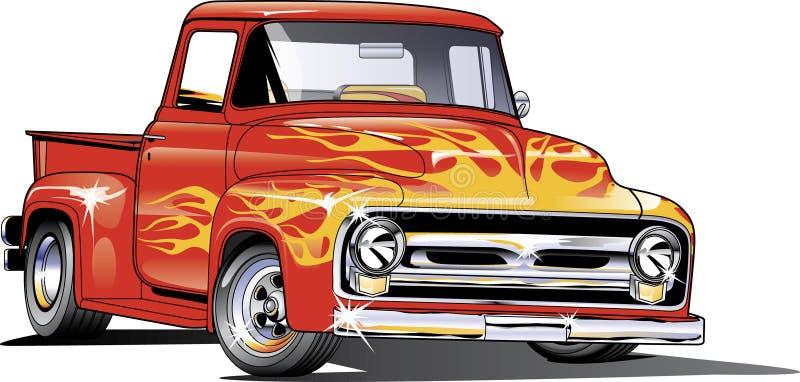 Ford Hotrod lastbil 1954 royaltyfri illustrationer