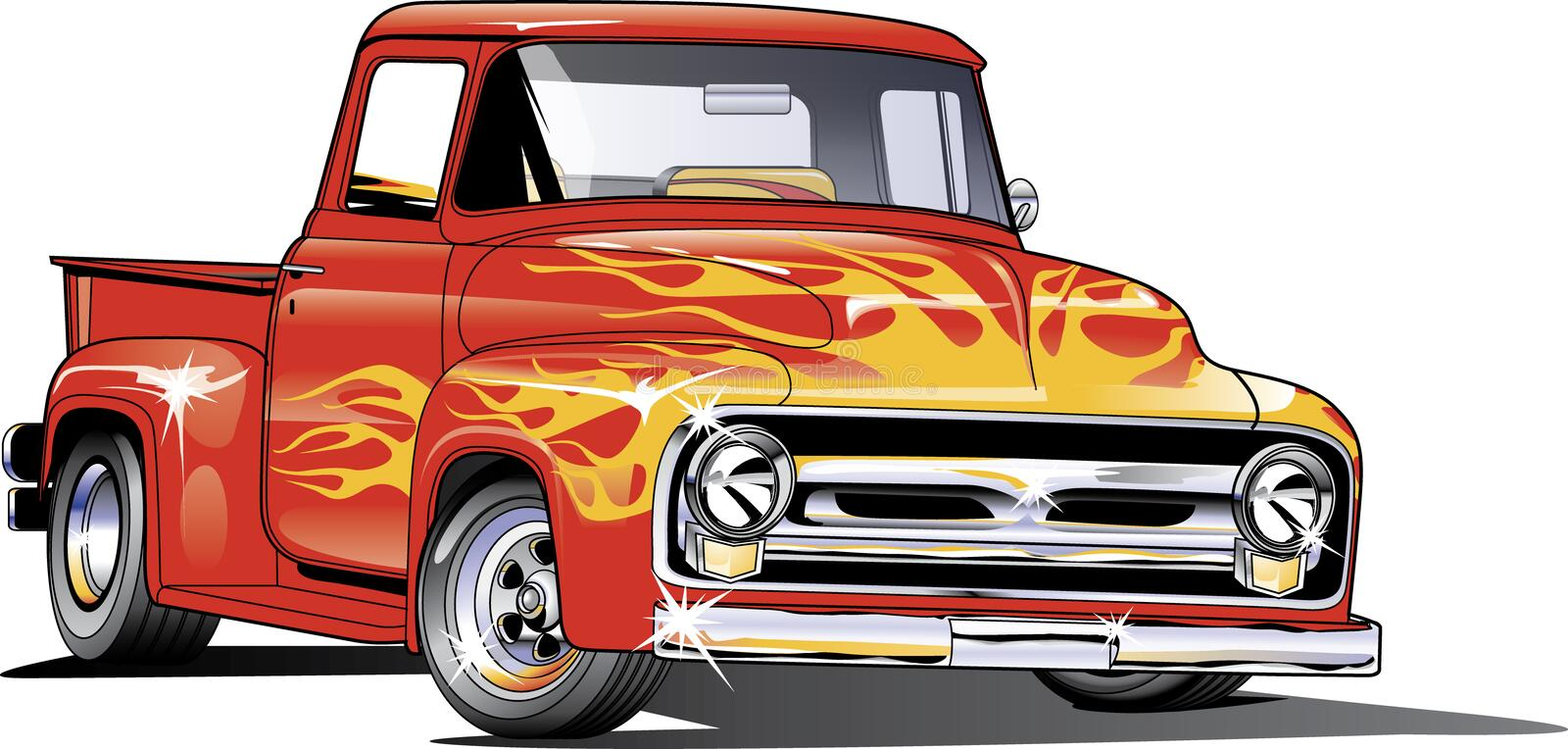 1954 Ford Hotrod truck stock photography