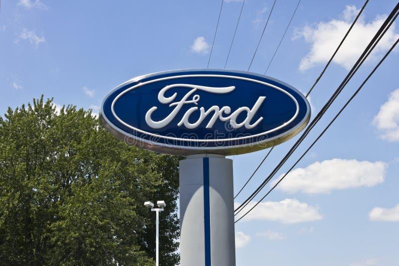 Ford Logo an einer Verkaufsstelle I stockfotografie