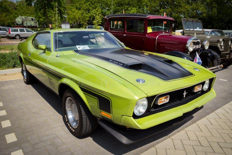 Ford Mach 1972 1 tappningsportbil royaltyfria bilder