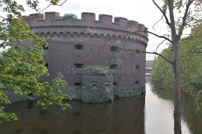 Ford medieval em Prússia do leste imagem de stock royalty free