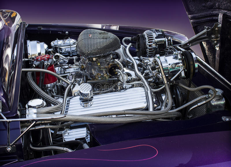 1950 Ford Mercury-motor royalty-vrije stock afbeelding