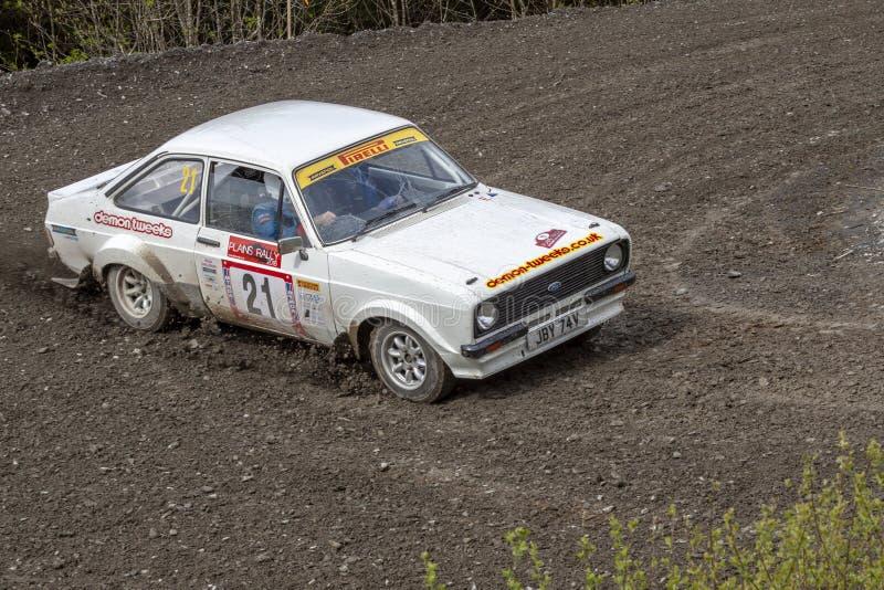 Ford Mkii Escort Rally Car foto de archivo