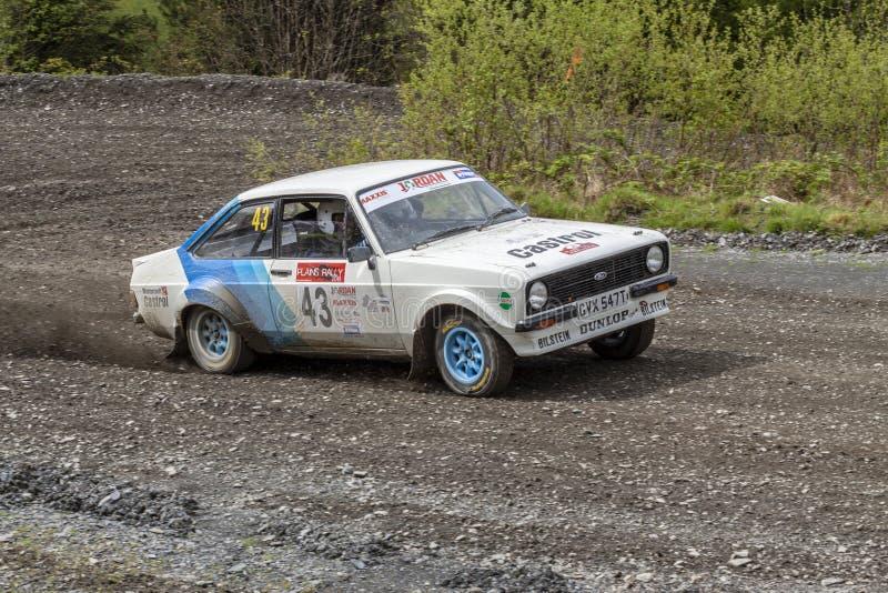Ford Mkii Escort Rally Car foto de archivo libre de regalías