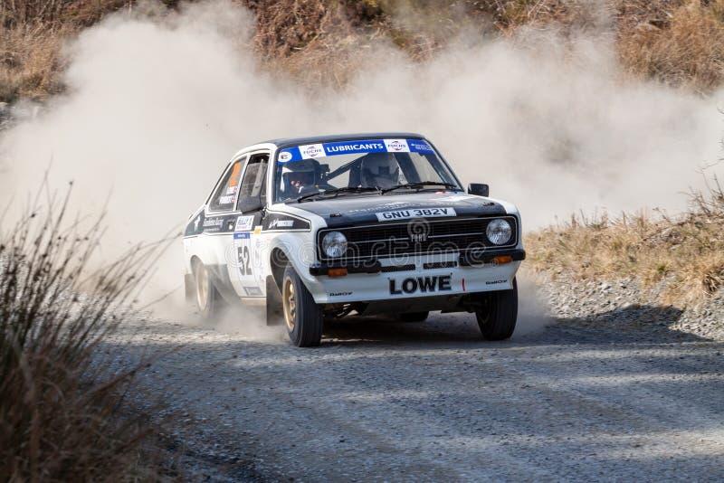 Ford Mkii Escort Rally Car fotografie stock