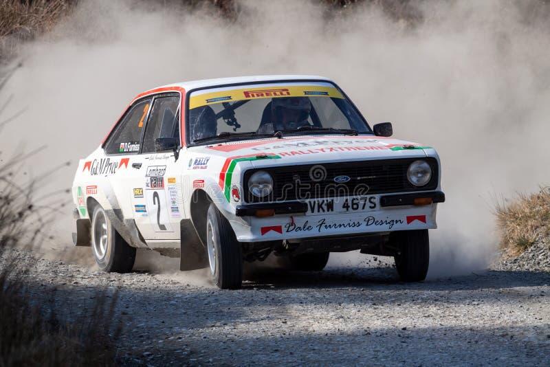 Ford Mkii Escort Rally Car fotografia stock libera da diritti
