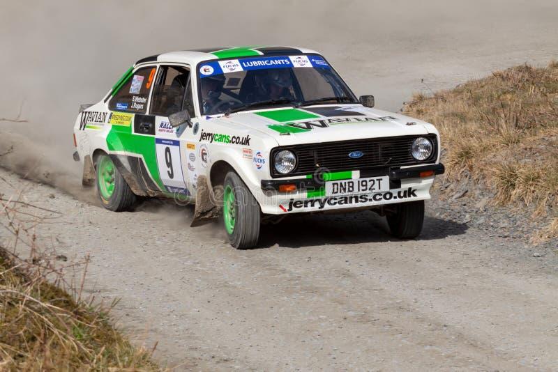Ford Mkii Escort Rally Car immagini stock