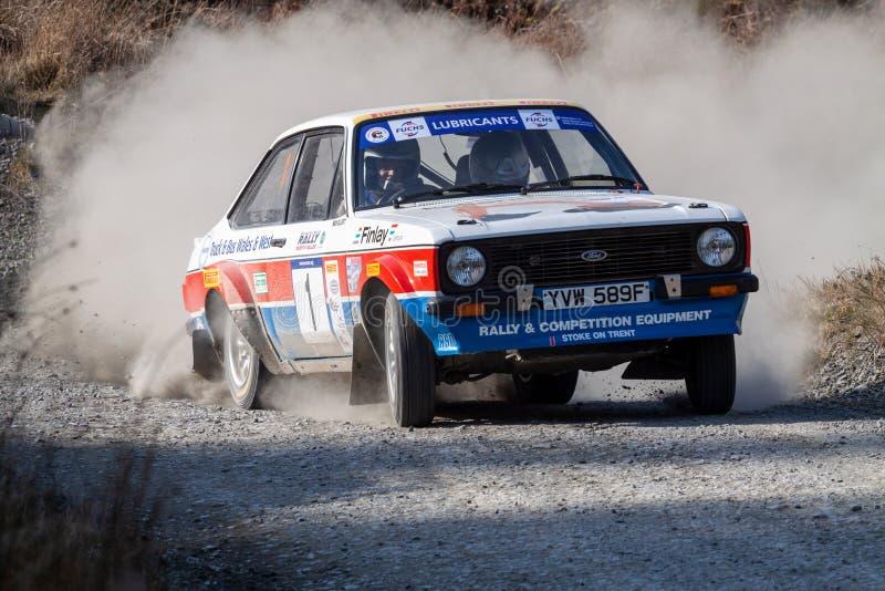 Ford Mkii Escort Rally Car fotografie stock libere da diritti