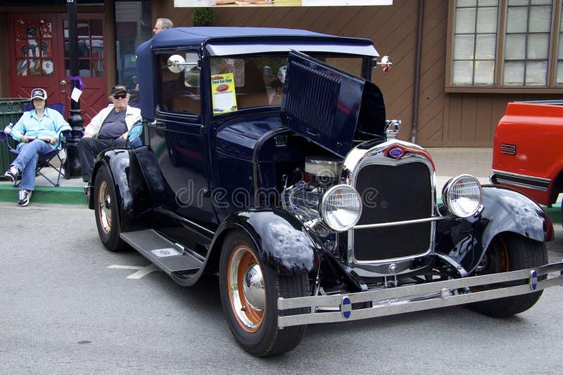 """Ford Model A (1927) """"Sport CoupeÂ"""" an der Automobilausstellung lizenzfreie stockbilder"""