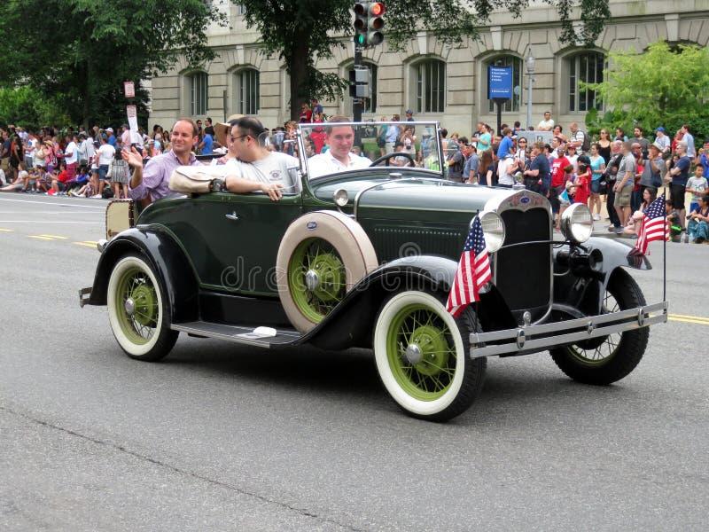 Ford Model A an der Parade stockfotografie