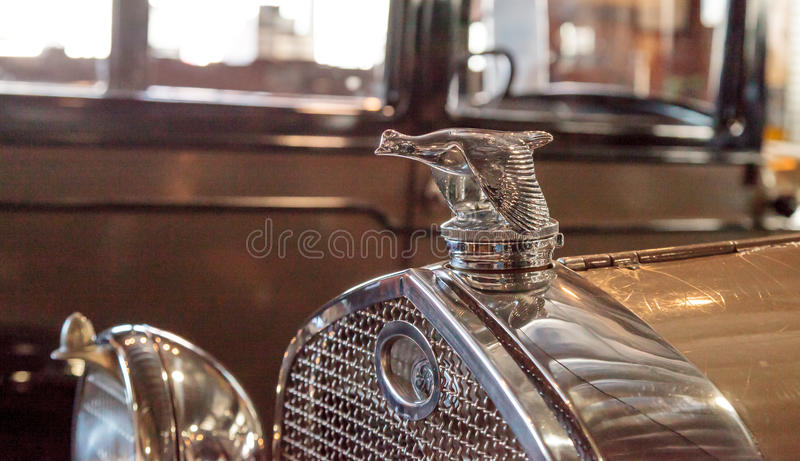 1931 Ford Model A Roadster. El Segundo, CA, USA - September 26, 2016: 1931 Ford Model A Roadster with a quail hood ornament displayed at the Automobile Driving royalty free stock image