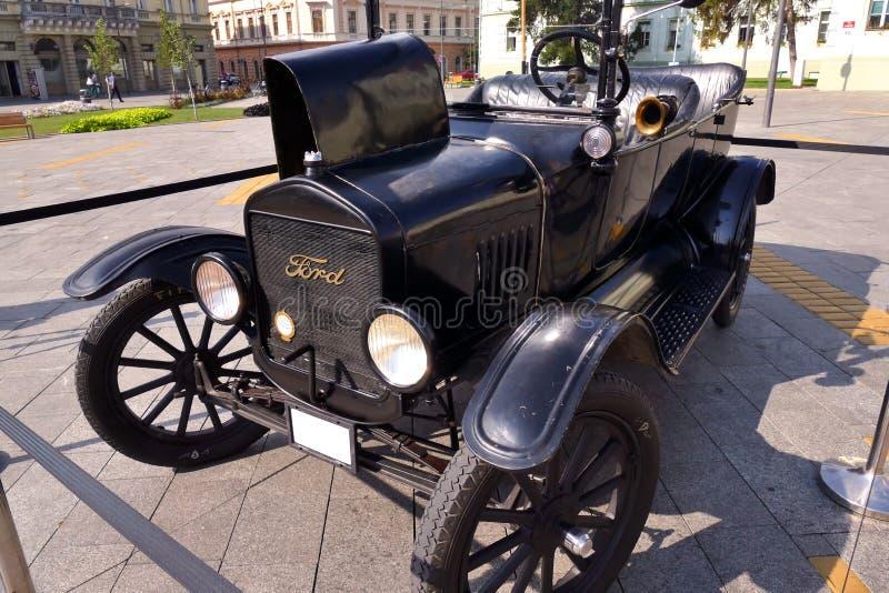Ford Model T ab 1921 auf Ausstellung stockfotos