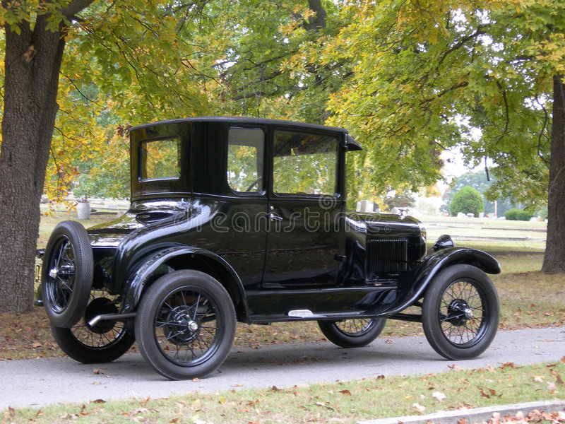 Ford Model T in fall stock photography