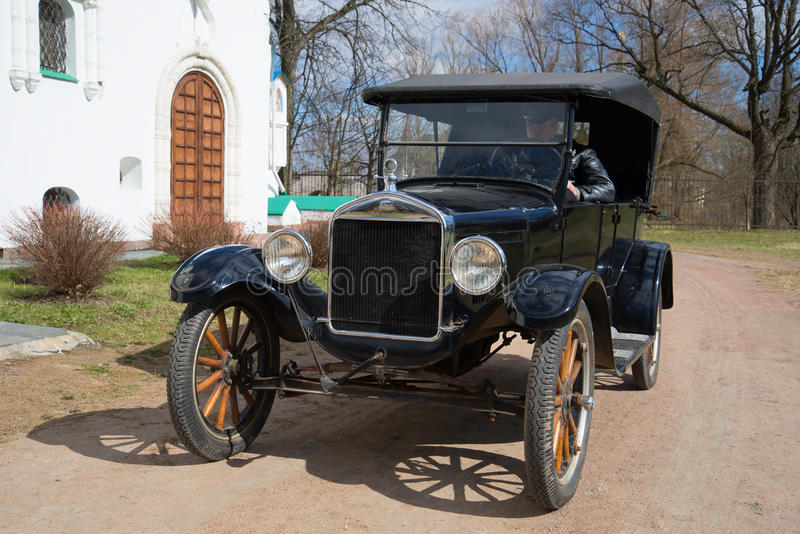 Ford model T on a sunny May day royalty free stock images