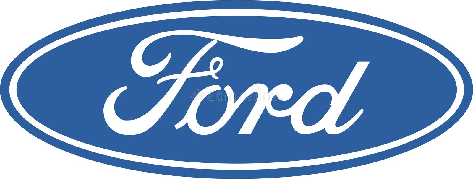 Ford company logo icon. Ford Motor Company is a multinational automaker that has its main headquarter in Dearborn, Michigan, a suburb of Detroit. It was founded royalty free illustration