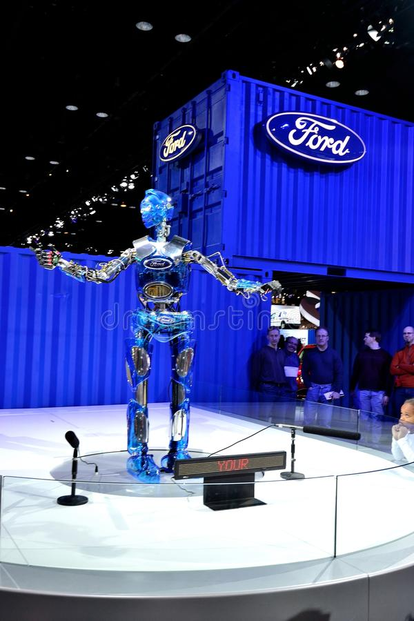 Ford Motor Company Robot at Auto Show stock photo