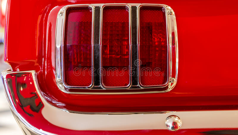 Ford Mustang尾灯  免版税库存图片