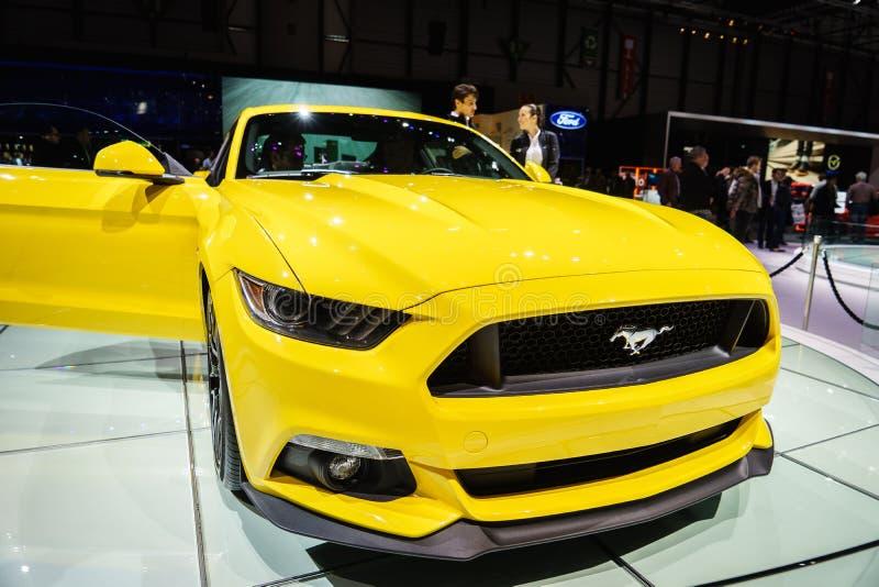 Ford Mustang,汽车展示会吉恩威2015年 免版税图库摄影