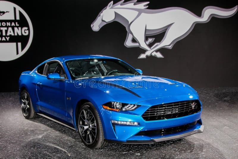 Ford Mustang Ecoboost royaltyfria bilder
