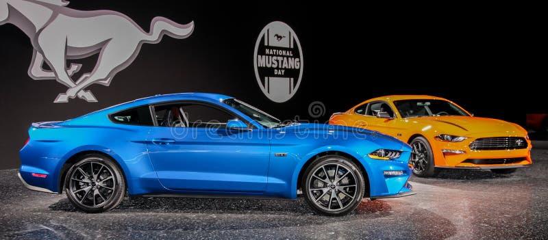 Ford Mustang Ecoboost royaltyfri fotografi