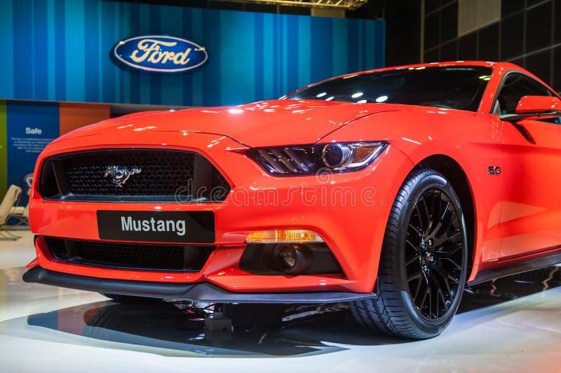 Ford Mustang im Singapur Motorshow 2015 lizenzfreie stockfotos
