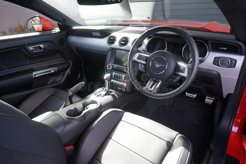 2014 Ford Mustang Interior Front View royalty free stock images