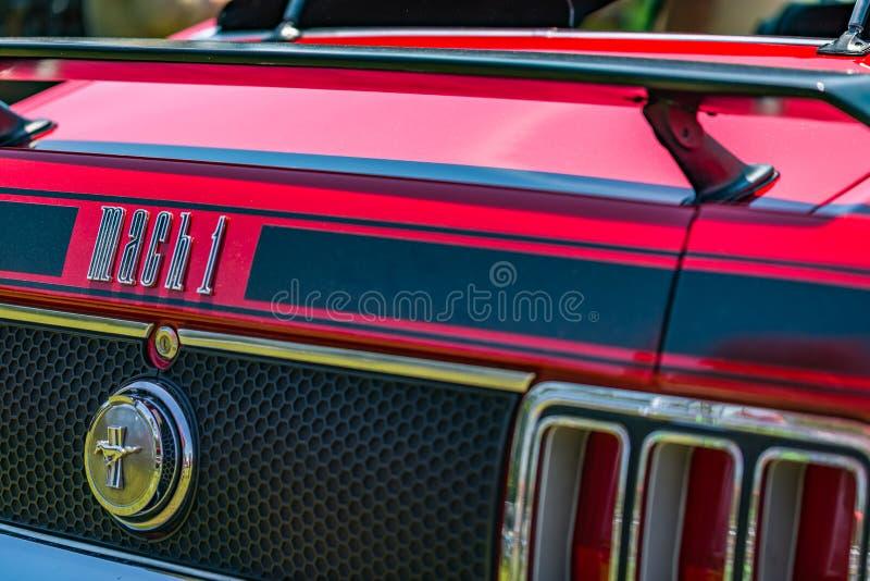 Ford Mustang Mach 1970 1 royaltyfri fotografi