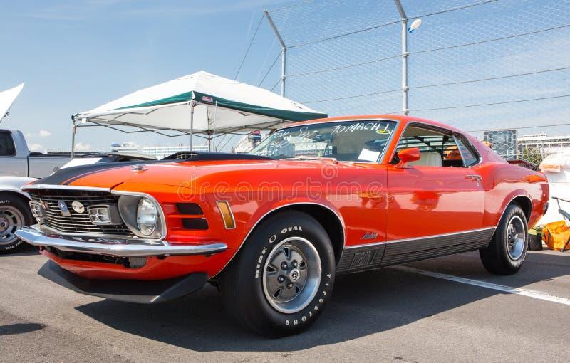 Ford Mustang Mach 1970 1 royaltyfri foto