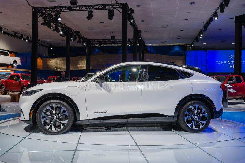 Ford Mustang Mach-E SUV on display during Los Angeles Auto Show stock images