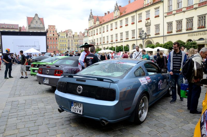 Ford Mustang Race arkivfoto