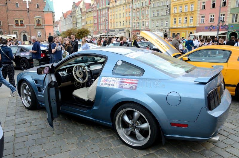 Ford Mustang Race arkivbilder