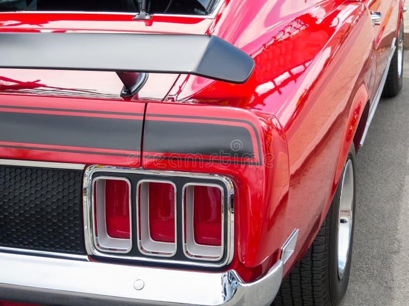 Ford Mustang rojo fotografía de archivo