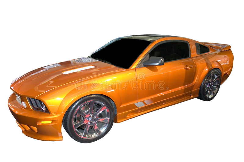 Download Ford Mustang, Saleen Version Stock Image - Image of yellow, isolated: 455933