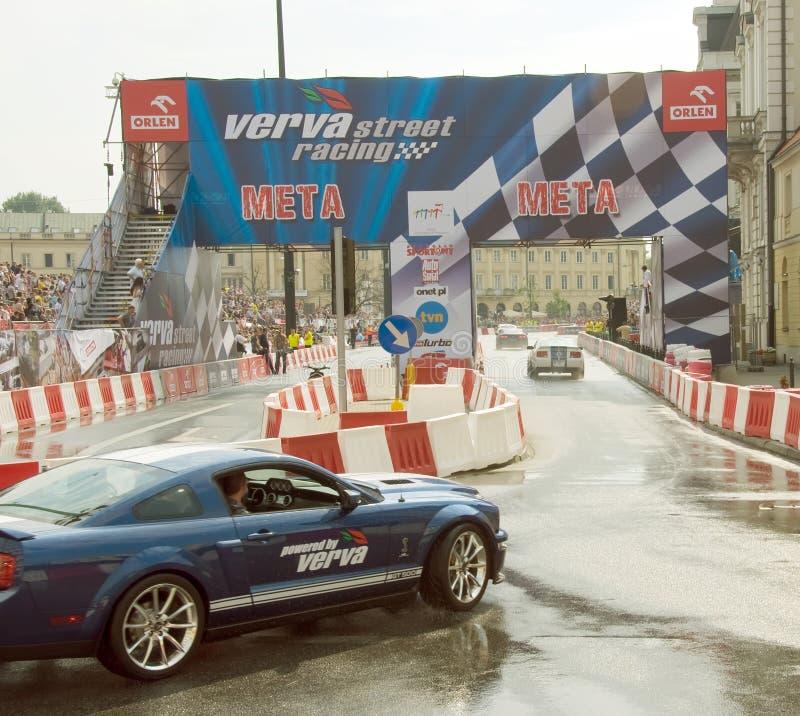 Ford Mustang at Verva Street Racing 2011 royalty free stock images