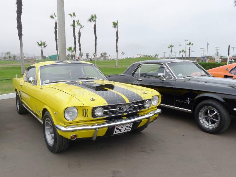 Ford Mustangs stellte in Chorrillos-Bezirk von Lima aus lizenzfreie stockbilder