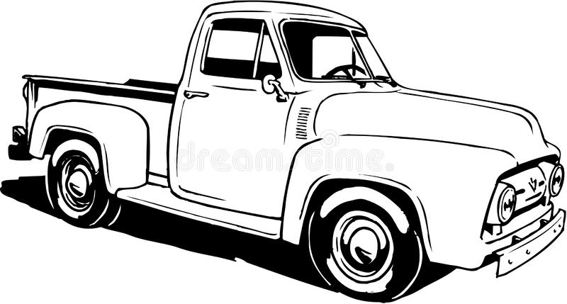 1953 Ford Pickup Illustration stock illustratie