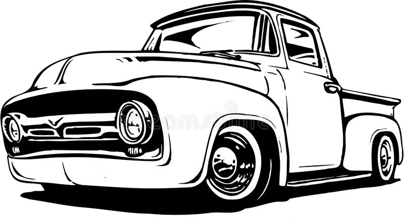 1956 Ford Pickup Illustration vector illustratie