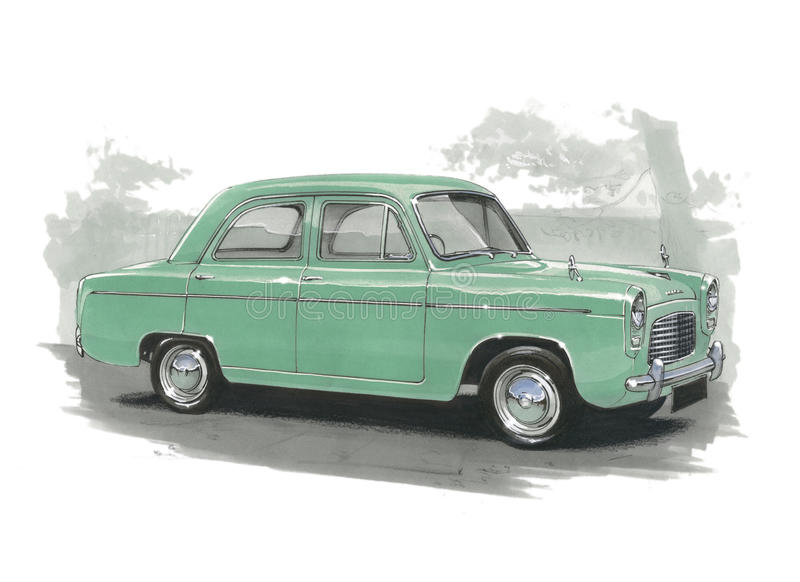 Ford Popular 100E stock illustratie