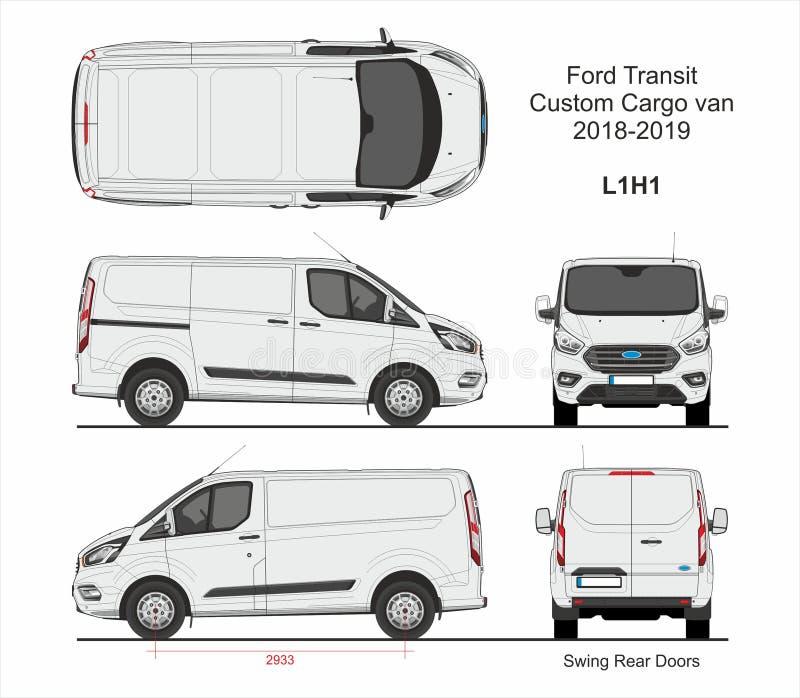 Ford Przelotowy Zwyczaj Ładunek Van L1H1 2018-2019