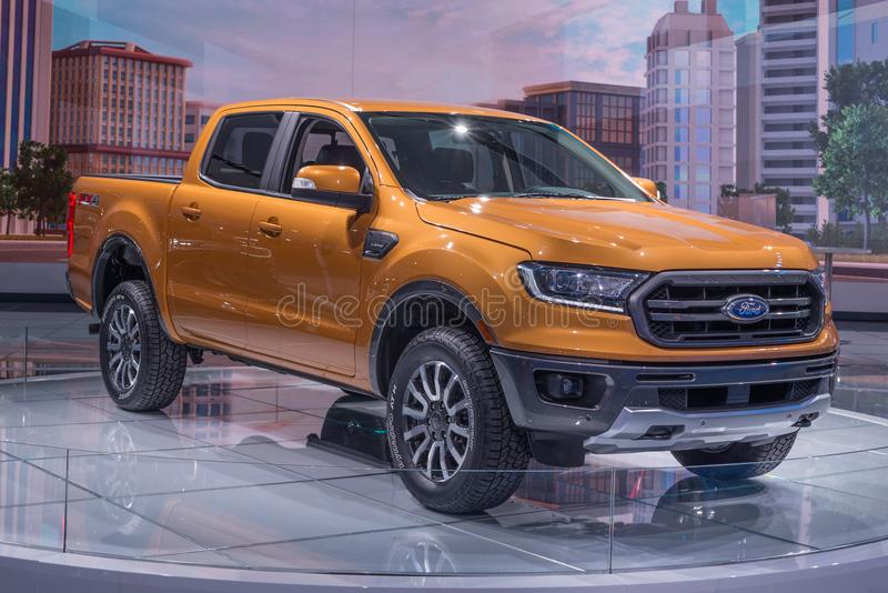 2019 Ford Ranger XLT Sport editorial stock photo  Image of