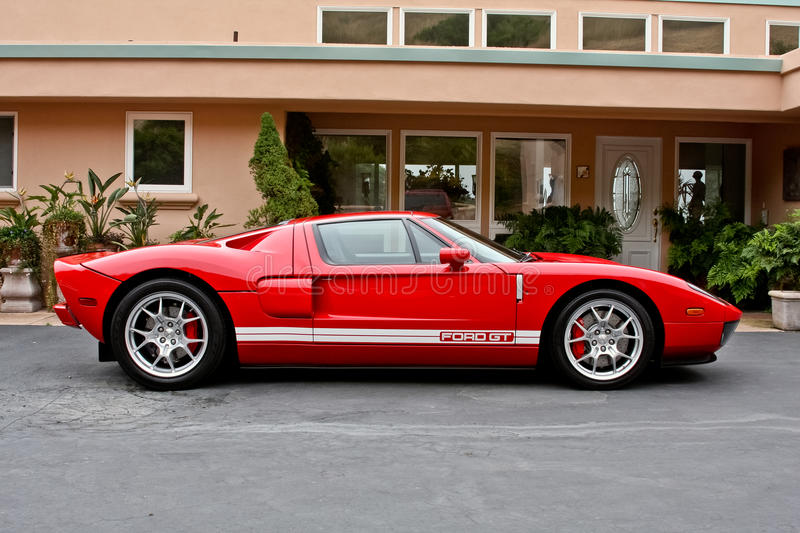 Ford Red GT royaltyfri foto