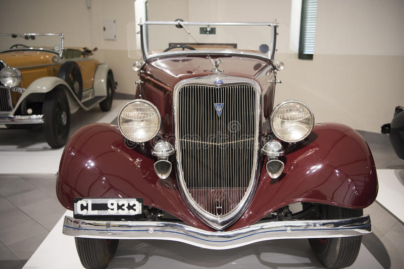 Ford 1934 roadster. Ford Model 40 Roadster, 1934, classic car, in Franschhoek Motor Museum, South Africa stock images
